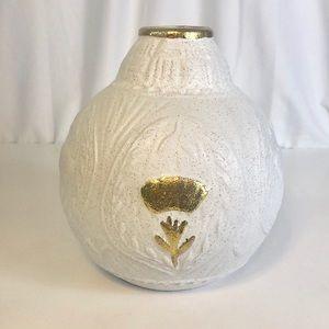 Opal House White Stoneware Vase